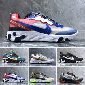 React Element 87 Undercover Men Running Shoes For Women Designers Sneakers Sports Mens Trainer Shoes Sail Light Bone Royal Tint QT9IN