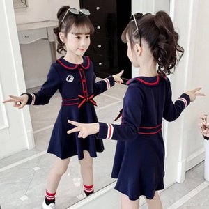 2020 Girls Dress Spring Autumn Kids Children College Wind Cotton Long Sleeve Dress Children Kids Casual Princess For Girls