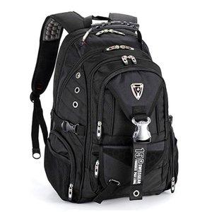 Швейцарский механизм Laptop Backpack, водонепроницаемой работа школа рюкзак сумка Подходит для 16-дюймового ноутбука для мужчин женщины 4 цвета