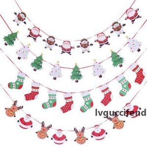 Christmas Banner Flag christmas decor hanging Flags Garlands Christmas Decor 8 pcs paper New Year Party Decoration