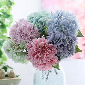 """Fake Single Stem 3D Hydrangea 16.54"""" Length Simulation Real Touch Hydrangeas for Home Wedding Decorative Artificial Flowers"""