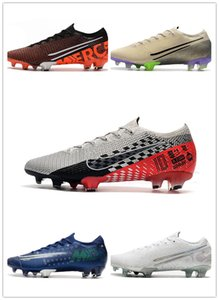 Mercurial 13 Elite FG low soccer shoes sneakers football cleats boots Nuovo White Pack DREAM SPEED TERRA PACK NEYMAR JR youth kids men women