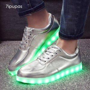 7ipupas classique Led enfant lumière ni l'argent lumineux mat Homme de Mode incandescentes baskets garçons filles Homme Led Chaussures Chaussure CX200725