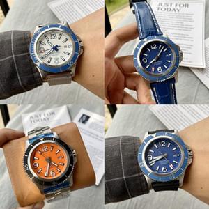 Breitling Alta qualidade homem Superocean Watch36 42 44 46 milímetros cinta de aço de couro automática movimento de quartzo mecânica cheia de trabalho relógio de luxo pulso pE6B #