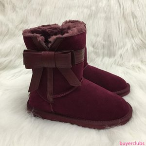 NEW designer Shoes Fashion Australian Snow Boots Women Boots Big Bow knot Winter Warm Outdoor Boots  Shoes Ivg