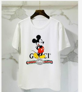2020 Tshirt Mens luxury Top Quality New Fashion Tide Shoes Printed Men Tee Shirts Tops Men woman 13GuccİT-shirt DOD201