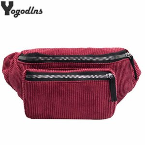 Fashion Tide Corduroy Chest Bag for Women Outdoor Portable Belt Bags Boys Girls Anti-theft Crossbody Shoulder Waist Pack Bag
