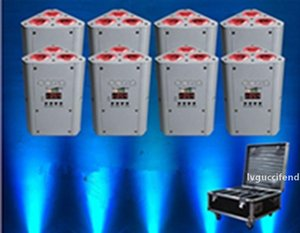 10PCS IR 원격 배터리 웨지 파 uplighting 스탠드 DJ의 결혼식 RGBWA UV 배터리 무선 DMX의 uplighting의 EEA1274을 주도 운영
