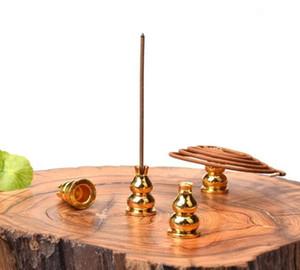 200pcs de la aleación de cobre calabaza incienso horno de inserción línea de base de incienso platillo Palillo del incienso Inicio Accesorios de aromaterapia # 6306