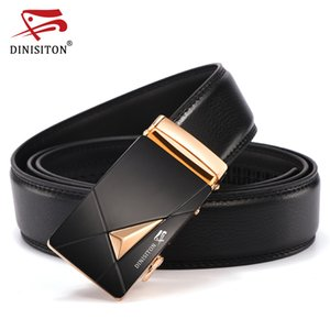 DINISITON Men's Belt Genuine Leather Business Strap Male Belts For Men Fashion Vintage Automatic Buckle For Jeans LZD005-6