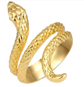 Fashion Cobra Snake Rings For Women Gold Color Black Heavy Metals Punk Rock Ring Vintage Animal Jewelry Adjustable From Factory