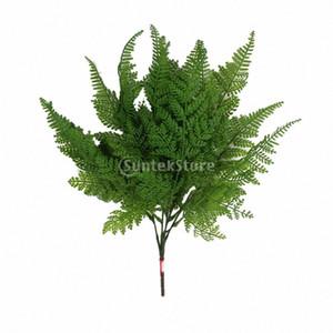 2 x artificielle Boston Fern Fausse plante Bush 5 feuilles Forks herbe feuillage Partie à la maison Décor xR39 #