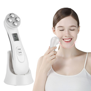 Hot selling new style 6 colors LED RF EMS Radio Frequency Skin Tightening Machine Skin Care Beauty Device for Face Lifting Tighten Anti Wrin