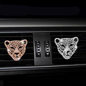 Car Air Outlet Perfume Clip Auto Interior Decor Aroma Car Air Freshener Diffuser Vent Clip Bling Diamond Leopard Solid Perfume