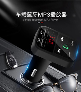 TF Card U Disk AUX FM Transmitter Bluetooth 4.2 Handsfree Car Kit MP3 Player With Microphone 2.1A Dual USB Charger