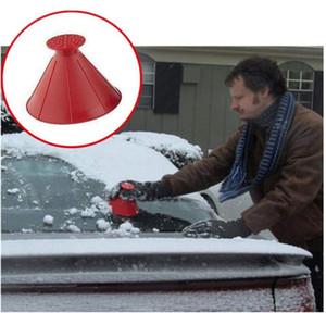 2020 الجديدة الزجاج الأمامي 4 ألوان السيارات الجليد مكشطة أداة المخروط على شكل جولة في الهواء الطلق إزالة القمع سيارة تنظيف الثلج الجليد مكشطة كيت فرشاة