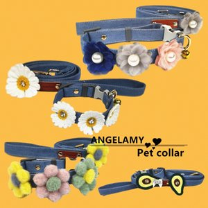 Trendy Brand Pet Collar Leashes Set Adjustable Durable Reflevtive Teddy Keji Dog Ties Top Grade High Quality Outdoor Pets Traction Rope