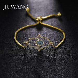 JUWANG Fashion DIY Chain Bracelets For Woman Girl Gift Rhinestone Cartoon Silver Color Copper Charm Bracelet Jewelry Wholesale
