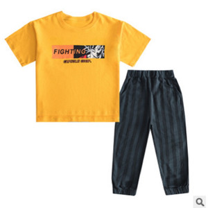 Boys Print Clothing Set 2020 New Cool Summer Kids Clothes Sets Children's Brief Active Sets 3 Print Letter Colors Size4-14 ly100