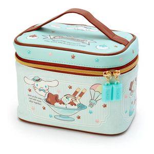 Cute Cartoon Cinnamoroll Chocolate Blue Makeup Bag PU Leather Cosmetic Box Travel Organizer Beauty Case Storage Toiletry Bags Y200714