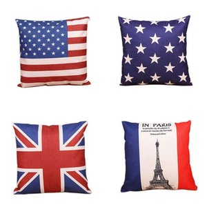 Living Series PillowCase Colorful Various Pillow Covers National Flag Throw Pillow Cases Sofa Bedroom Linen Cushion Cover