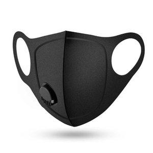 재사용 호흡 밸브 마스크 물질 인 PM2.5 입 안티 - 먼지 공해 방지 마스크 검은 천으로 스폰지 DHB910 마스크 마스크
