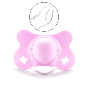 Baby with Lid Butterfly Shape Round and Flat Teat Silicone Sleep Pacifier Newborn Boys Girls Bite Chew Supplies D08C