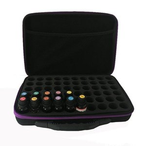 1pc 60-Bottle Essential Oil Carrying Holder Case Pack for Essential Oil Perfume Oil Storage Box Travel Storage Organizer Y200714