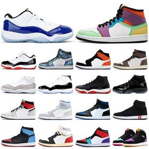 air jordan retro 1 11 jumpman Basketbol ayakkabı 11 s Yetiştirilen Kap ve Elbisesi Concord 1 s UNC Obsidian Birliği kadın erkek eğitmenler spor sneakers