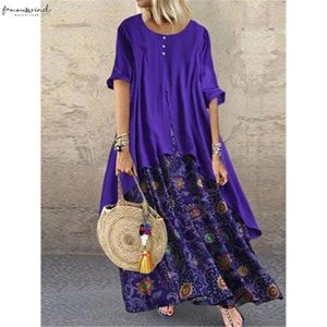Woman Fashion Crew Neck Long Sleev Evening Party Maxi Dresses Gowns Long Maxi Dresses Beach Drop Shipping