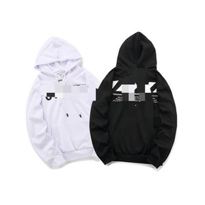 OFF Slash speed reduction belt hoodie sweater male OW white casual sports loose men and women