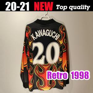 1998 Version rétro Japon Coupe du monde de football Jersey 1998 Gardiens de but Japon chemise à manches longues Longmen Gardien de but 20 Uniformes Kawaguchi Football
