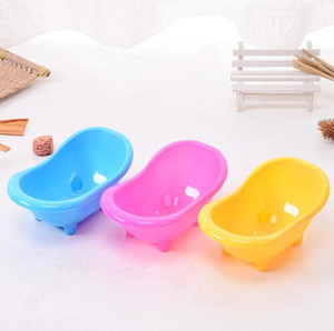 100pcs Hamster Bath Tub Multifunctional Hamster Toilet Shower Room Mini Bath Sand Bathtub Small Cleaning Tool Plastic Pets SN1617
