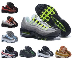Wholesale Men Air OG Cushion 95 Running Shoes Authentic Max Chaussure 95s Sneakers Boots Black Red White Trainer Walking Sports 40-45