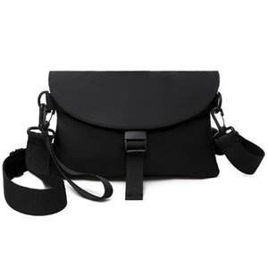 FGGS-Men Messenger Bag Pacote de Nylon Casual impermeável ombro de Men saco preto Funcional Zipper Crossbody Masculino