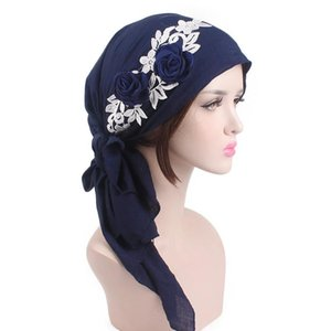 Gift Ladies Headwear Adults Women Hats Head Scarf Daily Bandanas Fashion Floral Decorated Chemotherapy Cap Beanie Vacation Wrap