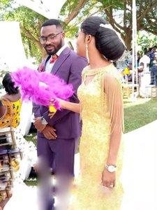 African Luxurious Mermaid Wedding Dress With Tassel Wrap Beads Crystal Dress Bridal Wedding Dress Customized Size