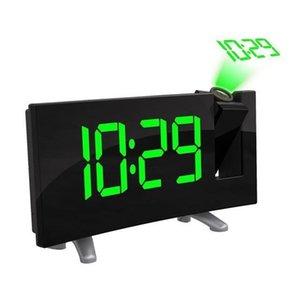 FM numérique Radio-réveil avec projection 4 Alarme 9 Min Sounds Snooze Fonction Sleep Timer pour la maison Chambre à coucher Bureau