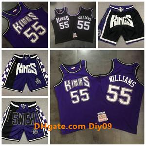 Jason 55 Williams SacramentoKingsGerileme Basketbol Yol swingman Jersey Mitchell NessNBA AhşapKlasikler Şort