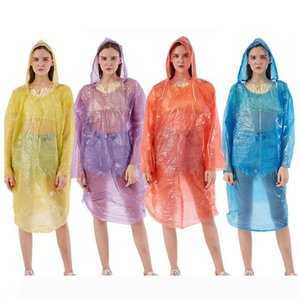 Hot Disposable Raincoat Adult Emergency Waterproof Rainwear Outdoor Unisex Travel Camping Rain Coat Fashion Hood Buckle HHA1198