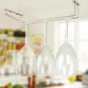 Nuovo 35 centimetri in acciaio inox Wine Rack Wine Glass Holder Calici Hanging barra di sospensione ripiano sotto gabinetto di casa Bar