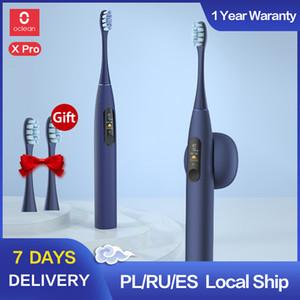 Oclean X برو سونيك فرشاة الأسنان الكهربائية الكبار IPX7 بالموجات فوق الصوتية التلقائية شحن سريع الأسنان شاشة تعمل باللمس مع فرشاة