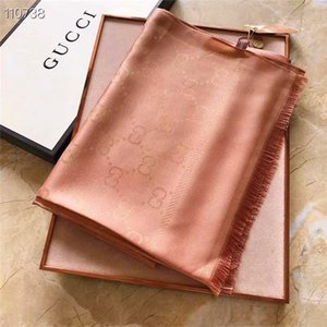 Hot Sale Silk Scarf Fashion Man Womens 4 Seasons Shawl Scarf Scarves Size about 180x70cm 7 Color with Gift Packing Optional