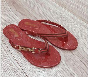 red flip flops The latest mkkbrand Designer Shoes Women BOM DIA FLAT MULE Slide Sandal Fashion Lady Letter Print Leather Rubber Sole Slipper