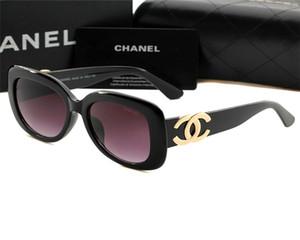 moda óculos de sol óculos de sol de qualidade superior para a mulher homem polarizado UV400 lentes de couro caso pano caixa de acessórios, tudo Chanel