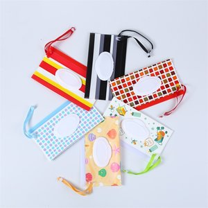 Baby Wipes Storage Bags Shell Striped Lattices Dot Prints Paper Towel Bag Easy Carry Wet Wipe Container 3 2mh E1
