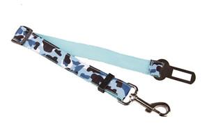 Adjustable Nylon Pet Puppy Pup Hound Vehicle Seat Belt Lead Dogs Pet Leash 6 Colors Cat Dog Car Safety Seat Belt Harness DH0287
