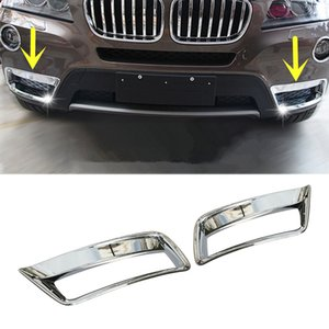 For BMW X3 F25 ABS Front Bumper Grille Fog Light Cover Trim 2011-2013 2pcs