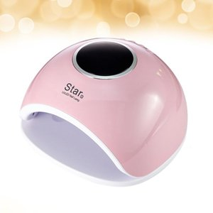 72W UV LED Nail Lamp Gel Polish Curing Manicure Nail Dryer Art Manicure Tools with US Plug (Pink)
