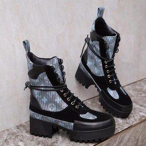 Women Shoes Fashion Winter Ankle Boots Laureate Platform Desert Boot Chaussures De Femme Luxury Womens Shoes Vintage L78 Bottes Femmes
